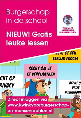 Nieuwe lessen burgerschap en mensenrechten voor het basisonderwijs