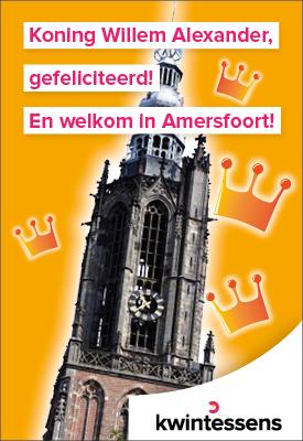 Welkom aan het Koninklijk paar in Amersfoort!