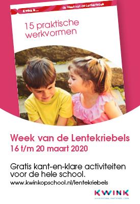 Week van de Lentekriebels; 16 tot en met 20 maart. Doet u mee?